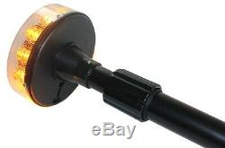 Motorcycle Motorbike Extendable Pole Amber LED Beacon Flashing Strobe Light