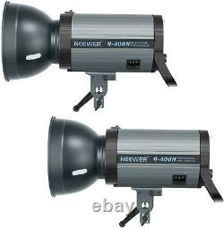 Neewer 800W Studio Strobe Flash Photography Lighting Kit(2) 400W Monolight