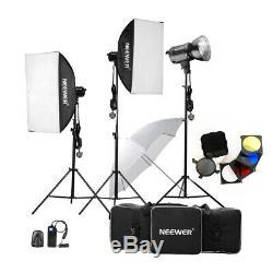 Neewer 900W(300W x 3) Photography Studio Flash Strobe Light Lighting Kit