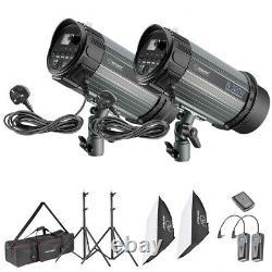 Neewer Strobe Flash Light and Softbox Lighting Kit (2)300W Monolight Flash