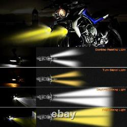 New Motorcycle LED Auxiliary Lights AAIWA Flash Strobe Driving Fog Light for BMW