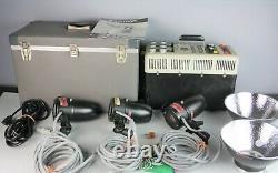 Norman Enterprises P2000D Unit And 3 LH 2000 Lampheads Strobes Studio Lighting
