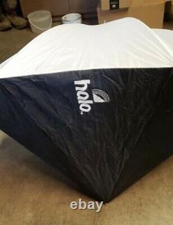 Novatron 500 Plus High Efficiency Studio Strobes 3 Light Travel Case 2 Umbrellas