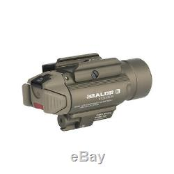 Olight Baldr RL White LED Flashlight + Red Laser Gun Light with 2x Batteries (Tan)