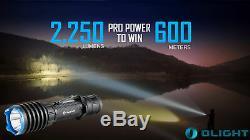 Olight Warrior X Pro 2250 Lumen Rechargeable Tactical Flashlight + Case Camo