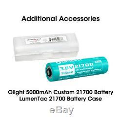 Olight Warrior X Pro 2250 Lumen Tactical Flashlight 2x Batteries + LumenTac Case
