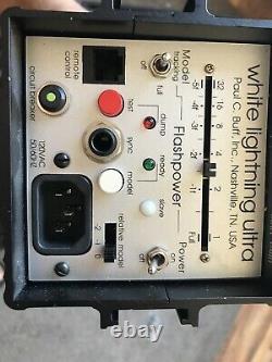 Paul C. Buff White Lightning Studio Strobes Ultra 1800's Pair Complete