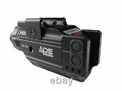 Pistol Strobe Green Laser+Flashlight Walter pk380 CC 40 Xdm 3.8 Glock S&W 17 19