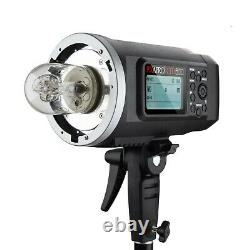 Portable Flash Strobe Battery Powered Lighting Unit with Padded Carry Case 600Ws