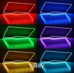 RGB Multi-Color LED Angel Eye Halo Rings For 2009-17 Dodge RAM Truck withRemote