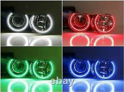 RGBW Multi-Color LED Angel Eyes Halo Rings For BMW E36 E46 E38 E39 3 5 7 Series