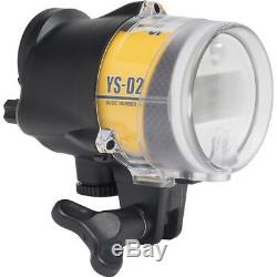 Sea And Sea YS-D2J Japan Yellow Strobe Scuba Diving Flash Light With Optic cable