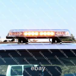 SolarBlast 16 34W White Flashing LED Strobe Mini Light Bar for Truck Vehicle