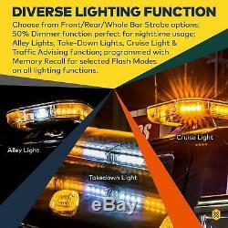 SolarBlast SBFB82 47 98W Amber Flashing LED Strobe Full-Size Light Bar