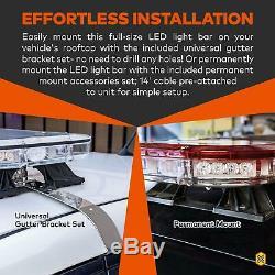 SolarBlast SBFB82 64 130W Amber Flashing LED Strobe Full-Size Light Bar