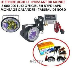 Strobe Light Flash 3 000 000 Lux! Special Moto Scooter Harley Bmw Buell Ktm Tmax