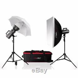 Studio Photo Flash Light Twin Kit Baby Portrait Nude Strobe Bowens S Fit 400Ws