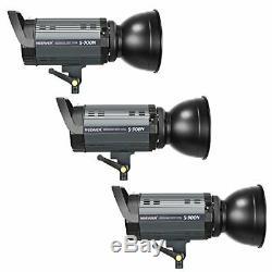 Studio Strobe Flash Photography Lighting Kit, 300W Monolight Softbox Light Stand