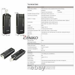 UK 2Godox 2.4 TTL HSS AD200 Flash+6060 Softbox+2m Light Stand+X1T-C for Canon