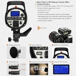 UK 400w 2x Godox SK400II 400W 2.4G X Studio Flash Strobe Light+Trigger f Nikon