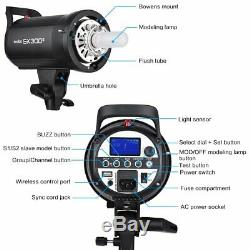 UK 900W 3x Godox SK300II 300w Studio Strobe Flash Light Head +Xpro-N+ Softbox