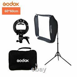 UK Godox 2.4 TTL 1/8000s Two Heads AD200 Flash+Bowen bracket softbox+2m stand