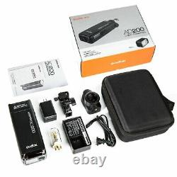UK Godox 2.4 TTL HSS AD200 1/8000s Pocket Flash Light+Free AD-S7 Softbox Kit