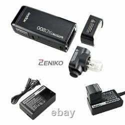 UK Godox 2.4 TTL HSS Two Heads AD200 Flash+X1T-C For Canon+Softbox Reflector Kit