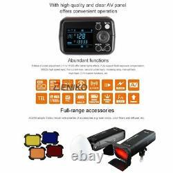 UK Godox 2.4 TTL HSS Two Heads AD200 Flash+X1T-F For Fuji+Softbox Reflector Kit