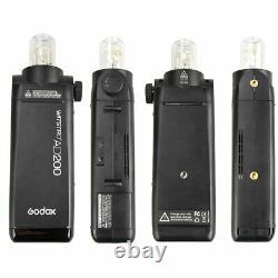 UK Godox 2.4 TTL HSS Two Heads AD200 Flash+X1T-N+40x40 Softbox Kit For Nikon