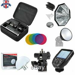 UK Godox 2.4 TTL HSS Two Heads AD200 Flash+Xpro-C Trigger for Canon+Softbox Kit