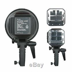 UK Godox 600w 2.4G TTL Portable Studio Strobe Flash Light + Two Li Batteries Kit