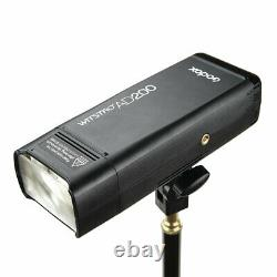 UK Godox AD200 TTL HSS 2.4G 1/8000 Wireless Double Head Flash+Free refelector