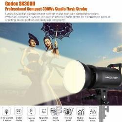UK Godox SK300II 300W 2.4G Studio Flash Strobe Light Head+ Xpro-N TTL Trigger