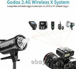 UK Godox SK300II 300w Photography Studio Strobe Flash Light Head With Bulb 220V