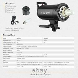 UK Godox SK400II 400W 2.4G Flash Strobe Light With 95CM Bowen Mount Softbox Kit