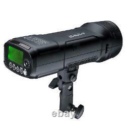 Visico 2 200W TTL HSS Portable Flash Strobe with Godox AK-R1 Accessory Kit