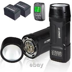 Visico 2 200W Twin Head Portable Flash Strobe Kit with 818TX Canon Transmitter