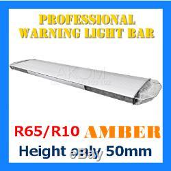Warning Light Bar PREMIUM 1450 mm, 12/24V, amber, R65/R10 Beacon Strobe Recovery