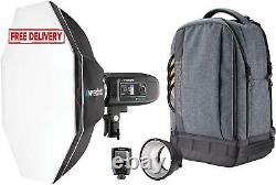 Westcott Fj400 Strobe 1-Light Bckpck Kit With Fj-X2M Universl Wireless Trigger N
