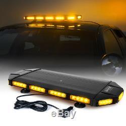 Xprite 27 Black Hawk LED Law Enforcement Top Roof Strobe Light Bar Amber