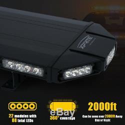 Xprite 48 Amber LED Strobe Light Bar Rooftop Emergency Warning Control Box 12V