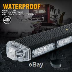 Xprite 48 Inch Rooftop 86 LED Strobe Light Bar Emergency Warning Amber/Yellow