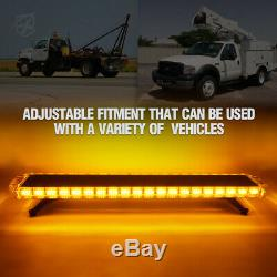 Xprite 48inch 132W LED Flash Light Bar for Truck Jeep Chevy SUV Emergency Hazard