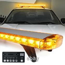 Xprite Amber/Yellow 48 Inch LED Strobe Light Bar Rooftop Flash Emergency Warning