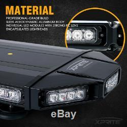 Xprite Black Hawk 27 Top Roof Strobe Light Bar Amber White LED Law Enforcement