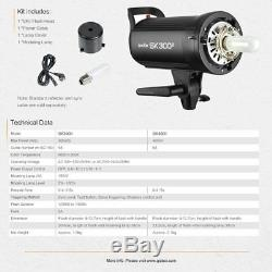1200w 3 Godox Sk400ii 2.4g Strobe Kits Flash Pour Éclairage Photographie De Mariage
