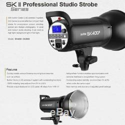 1200w 3x Godox Sk400ii 2.4g Système X Strobe Kits Flash Pour Éclairage Photographie