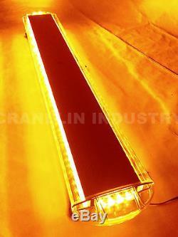 1400mm 55104w Led Light Work Top Beacon Récupération Clignotant Strobe Jaune Clair