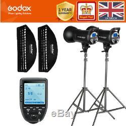 2 Godox Sk300ii 300w 2.4g Flash Stroboscopique + Softboxes + Lumière + Supports Xpro-trigger Kit